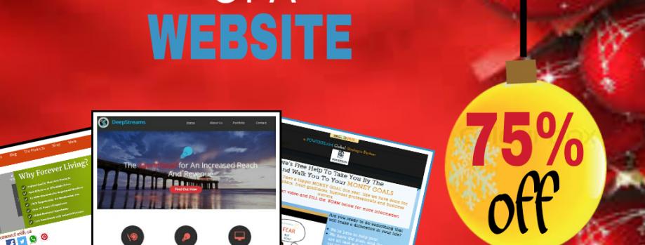 BUILD YOUR BUSINESS WEBSITE: SiteOnAShoeString™ Xmas Promo :