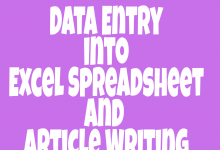 DATA ENTRY AND ARTICLE WRITING