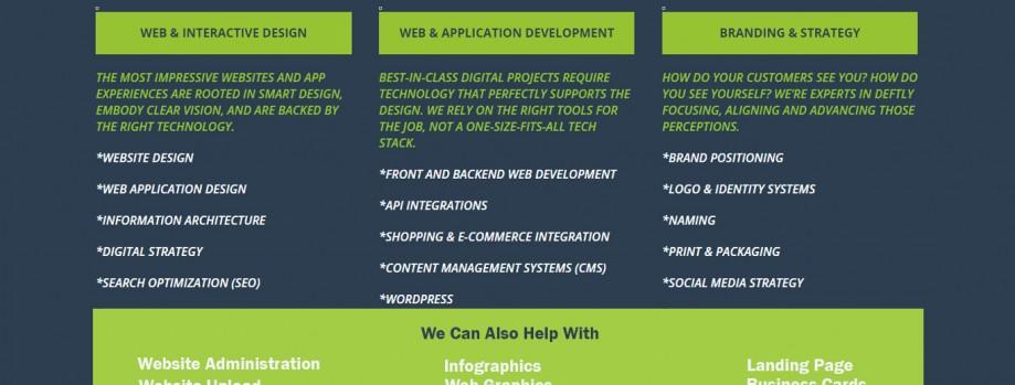 Responsive website design and development.