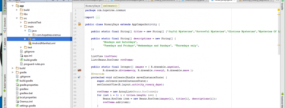 Make Android applications