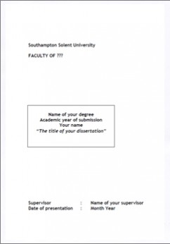 RESEARCH PROJECT & DISSERTATION