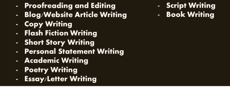 Writing, Proofreading, and Editing
