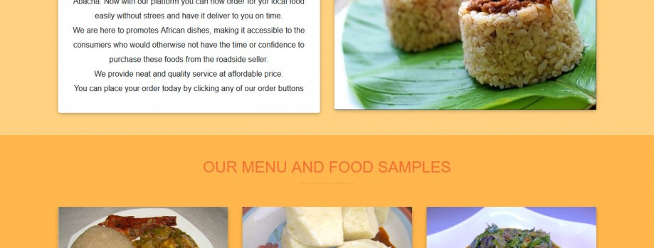 Responsive catchy beautiful advert landing page