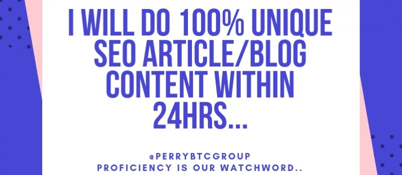 Write 1000 Words Unique Content On Any Niche Within 24 Hours