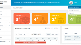 I will design a school management portal with admin,students and parents login
